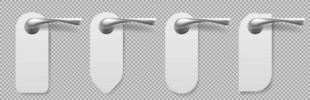Maniglie per porte con appendini di varie forme Vettore gratuito