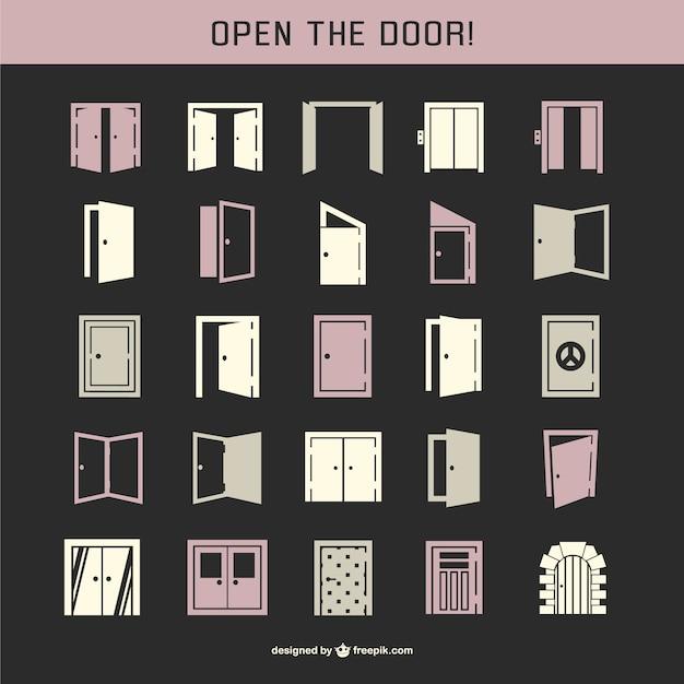 Door icon pack Free Vector  sc 1 st  Freepik & Door icon pack Vector | Free Download