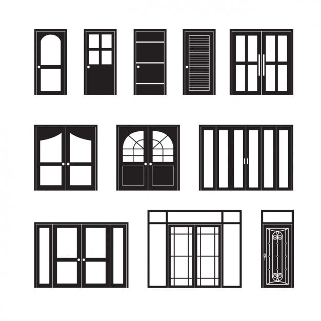 Door icons collection Free Vector  sc 1 st  Freepik & Door icons collection Vector | Free Download