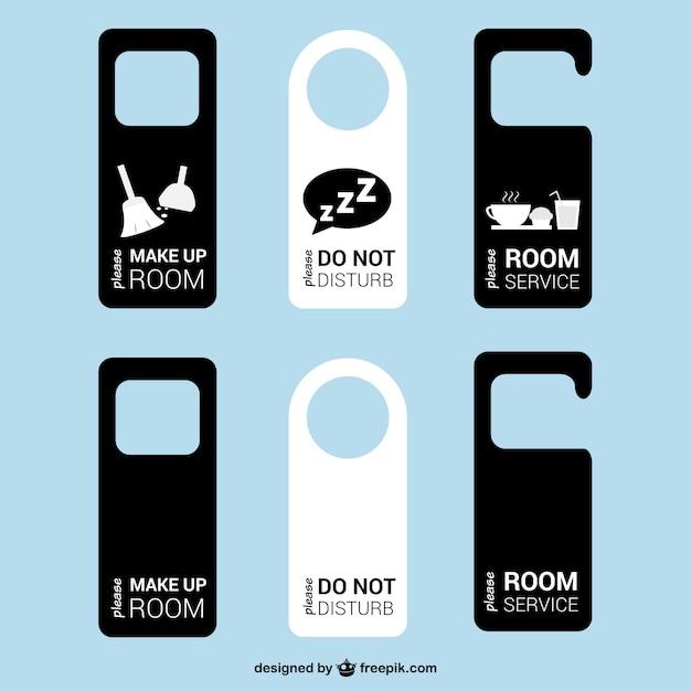 Door tags hotel room vector Vector | Free Download
