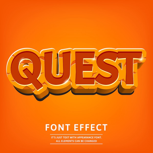 Dope 3d text effect for logo game or menu Premium Vector