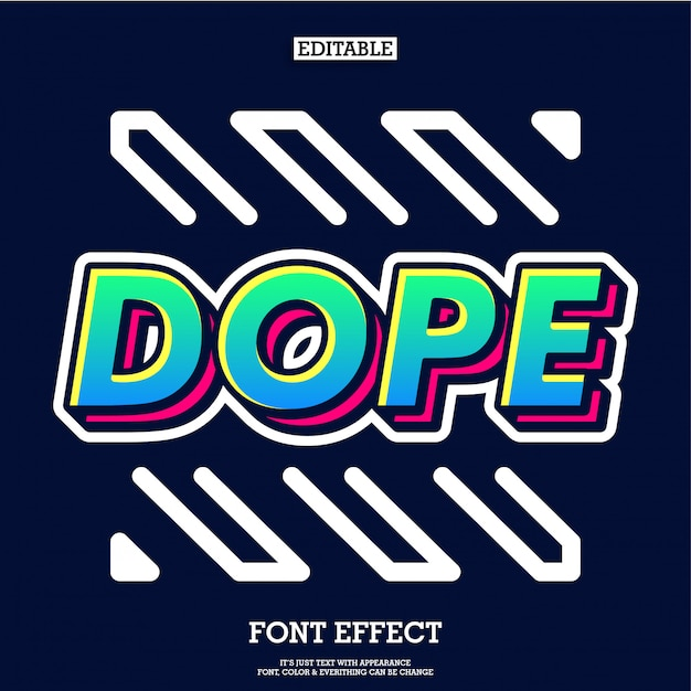 Dope Cool Graffiti Typeface With Highlight And Shadow Vector