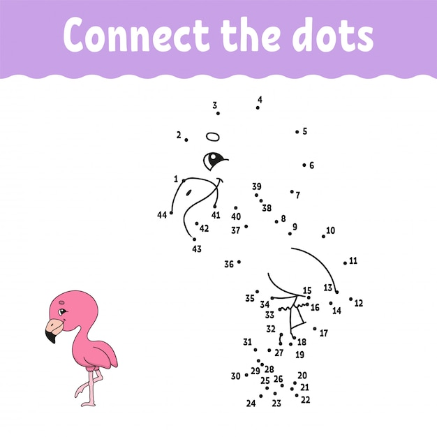 Dot to dot. connect the dots game Vector | Premium Download