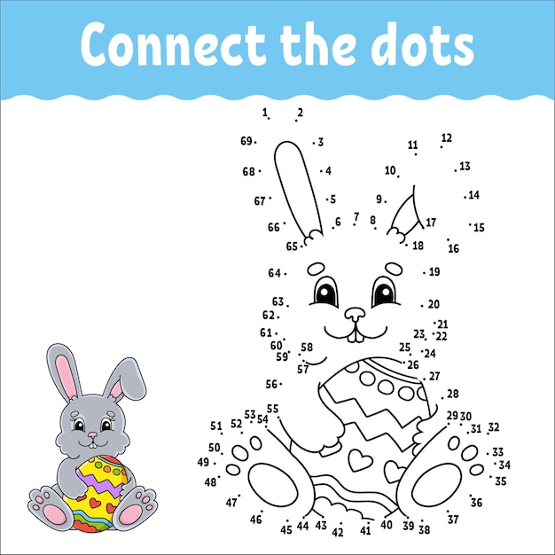 Dot to dot game. draw a line. for kids. activity worksheet. coloring book. with answer. Premium Vector