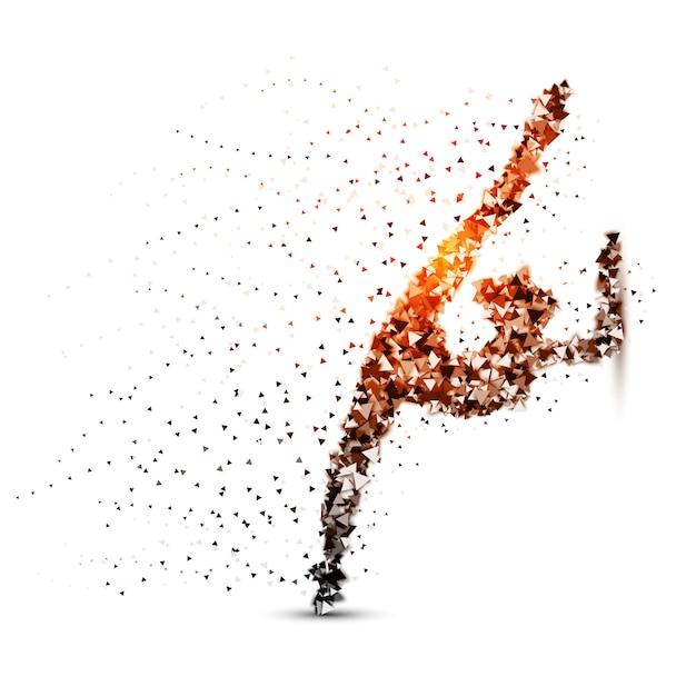 Dot illustration on the white background Premium Vector