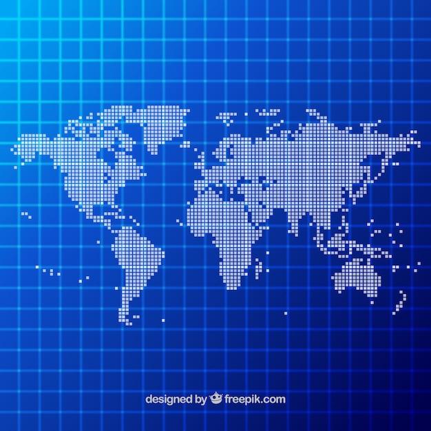 Dot world map design vector free download for Map designer free