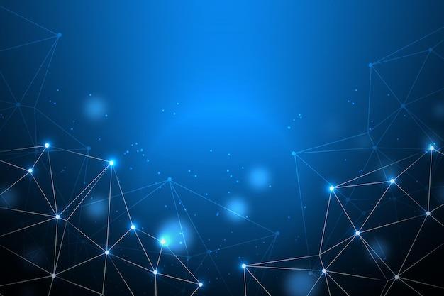 점 및 연결 라인 디지털 배경 무료 벡터