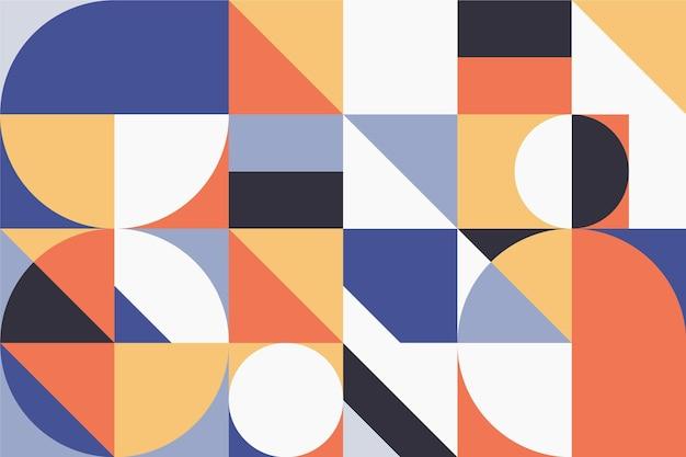 点と線の幾何学的な壁画の壁紙 Premiumベクター