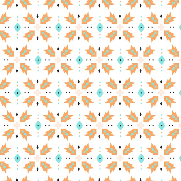 Dots and shapes songket seamless pattern template Free Vector