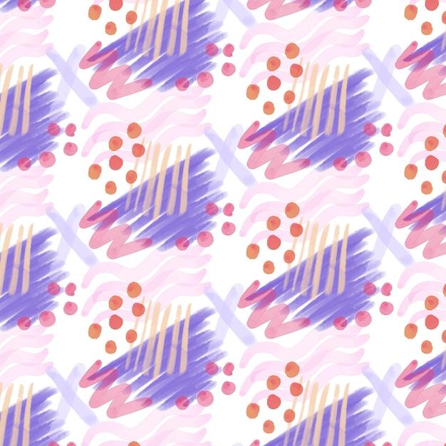 点線の抽象的な水彩画のシームレスなパターン Premiumベクター