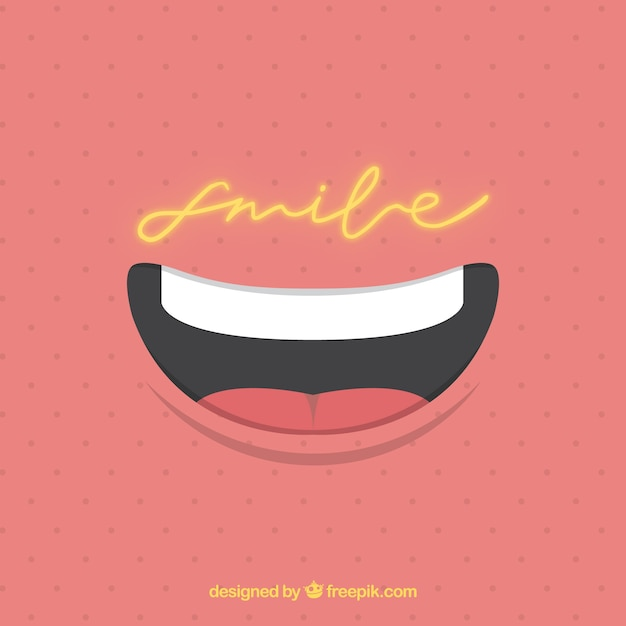 Mouth vectors photos and psd files free download dotted background with smile fandeluxe Ebook collections