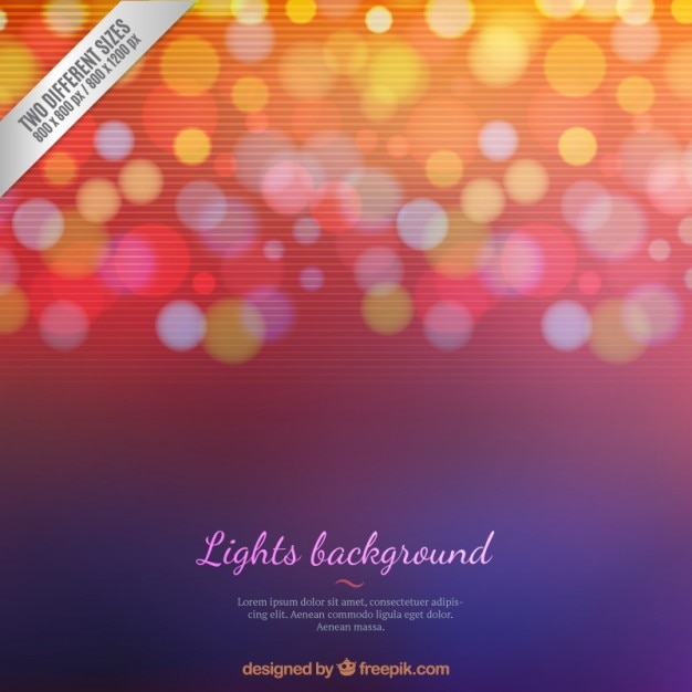 Dotted lights background Premium Vector