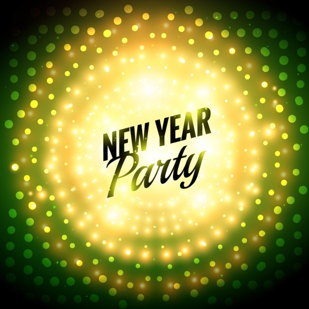 dotted new year party background free vector