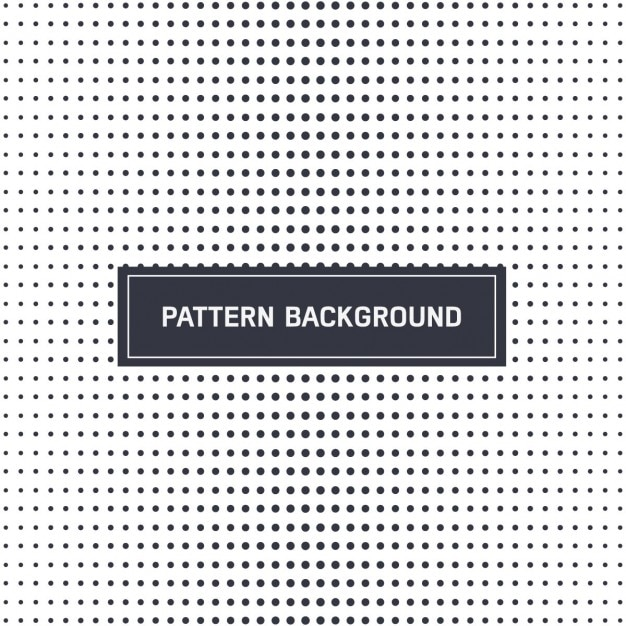 Dotted pattern in black and white Free Vector