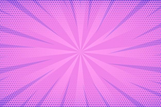 点線の紫色のスピードコミックスタイルの背景 無料ベクター