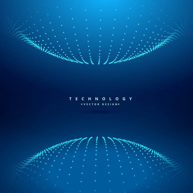 Dotted Sphere Technology Background Vector | Free Download