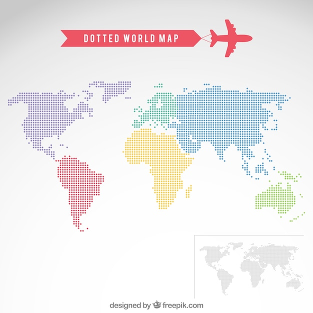 Dotted world map vector free download dotted world map free vector gumiabroncs Images