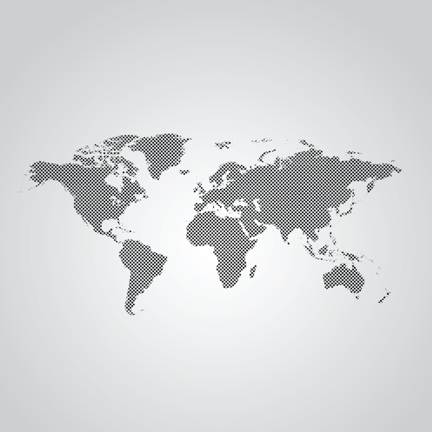 Dotted world map Premium Vector