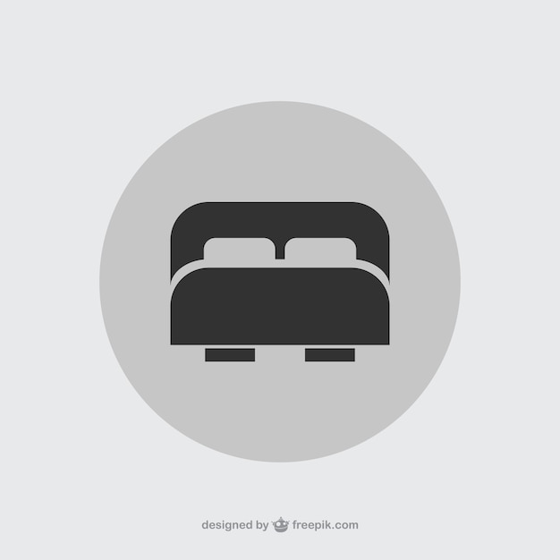 Double Bed Icon Vector Free Download