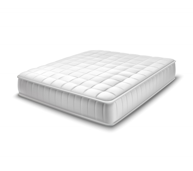 Double mattress in realistic style Free Vector