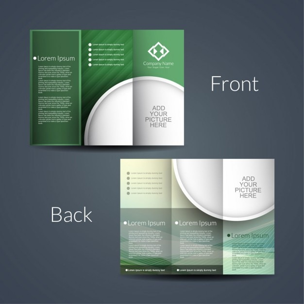 Double sided brochure vector free download for Double fold brochure template