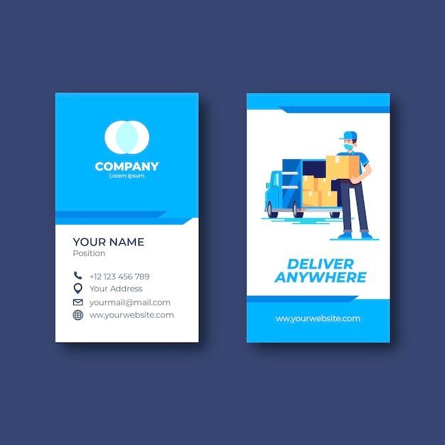 Double sided business card template Free Vector