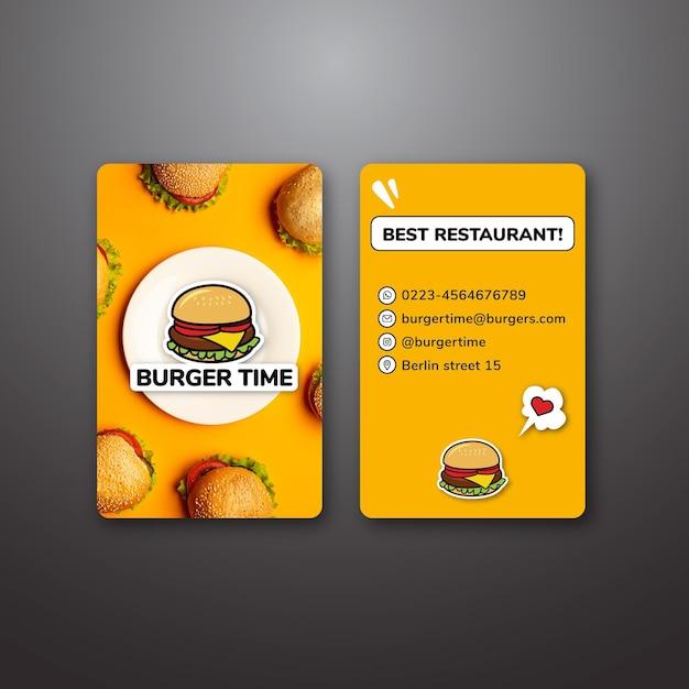 Двухсторонний шаблон визитной карточки Бесплатные векторы