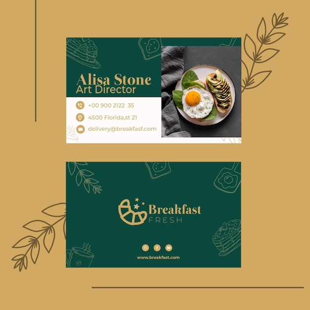 Double-sided business card template Free Vector