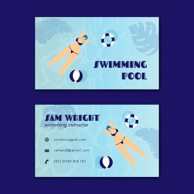 Double-sided business card Free Vector