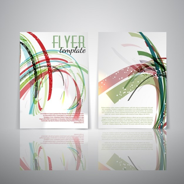 Double Sided Flyer Template With Abstract Design Vector Free Download