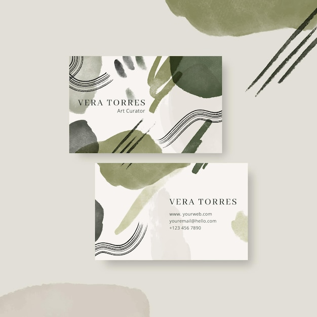 Double-sided horizontal business template in brown tones Free Vector