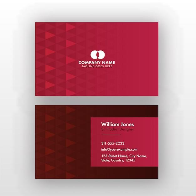 プロダクトデザイナーのための両面編集可能な名刺デザイン。 Premiumベクター