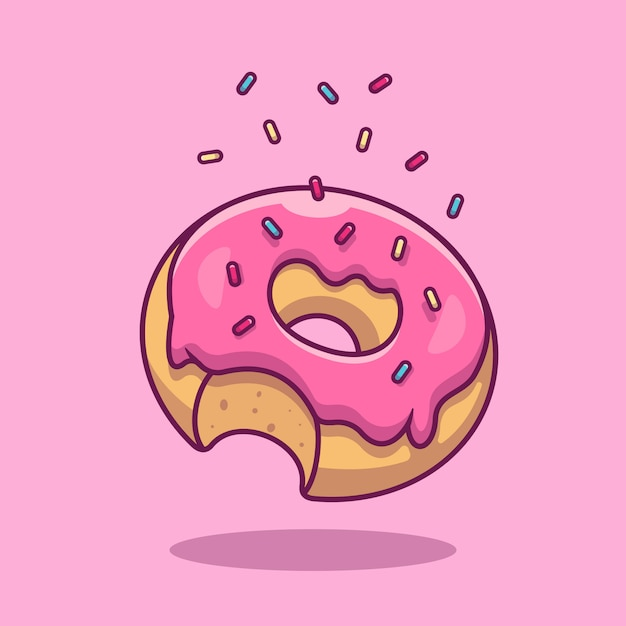 Doughnut  icon . fast food  collection. food icon  isolated Premium Vector