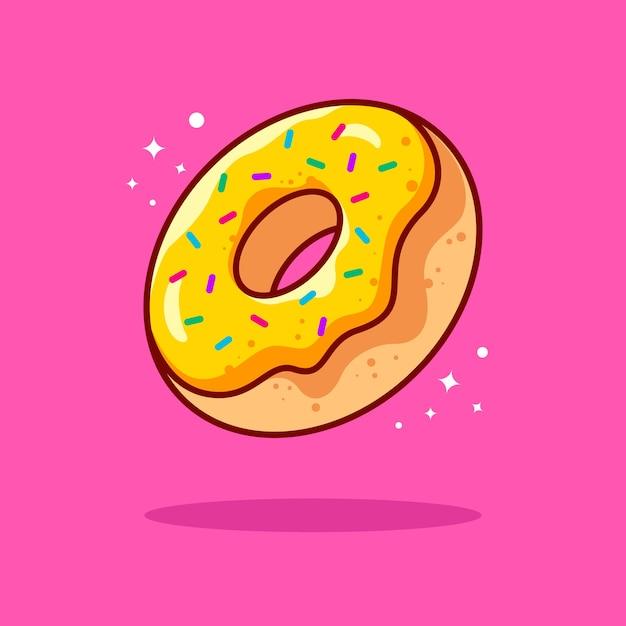 Doughnut illustration with outline Premium Vector