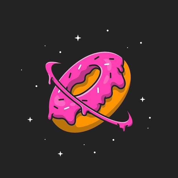ドーナッツプラント。フラット漫画スタイル 無料ベクター
