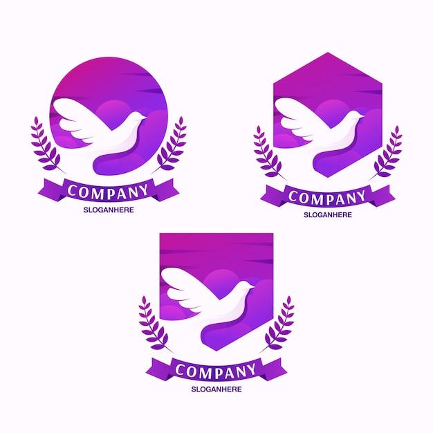 Dove logo design Premium Vector