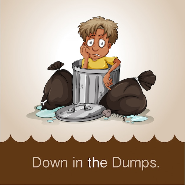 Down in the dumps Free Vector