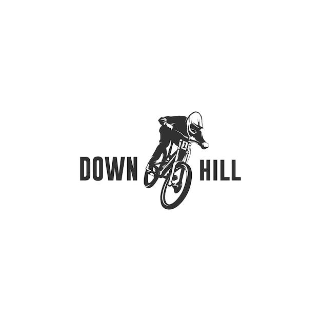 Горный велосипед силуэт логотип Premium векторы