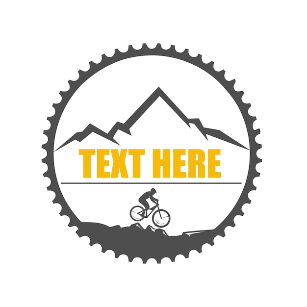 Downhill logo illustration Premium Vector
