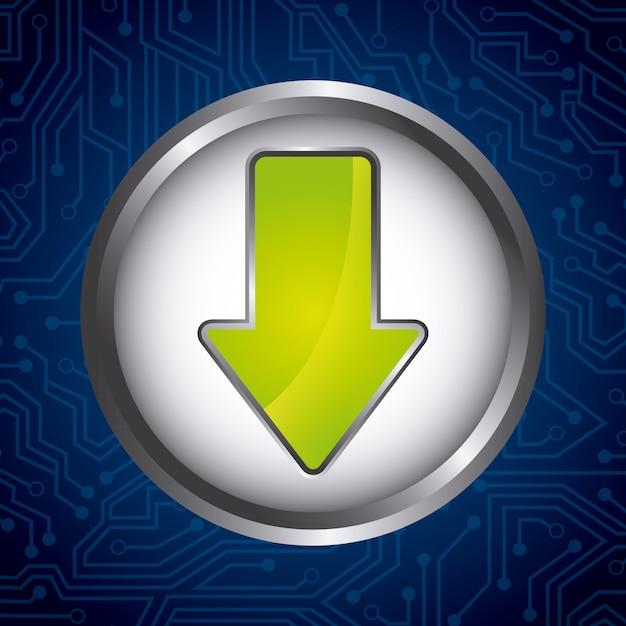Download button Premium Vector