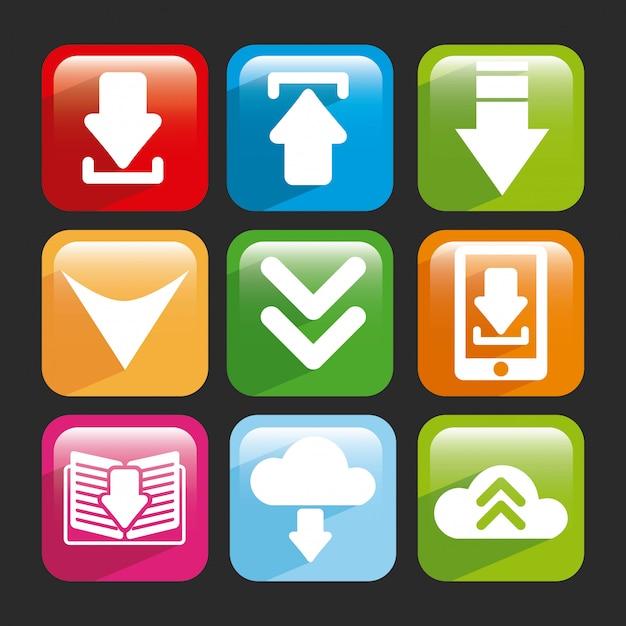 Download design over gray  background vector illustration Premium Vector