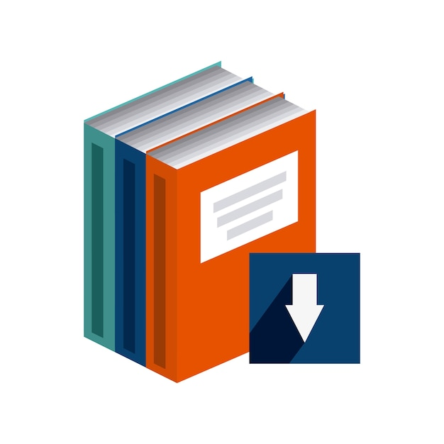 Download e-book design, vector illustration eps10 graphic Premium Vector