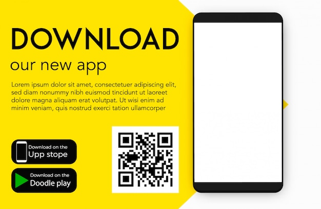 Download our new mobile app Premium Vector