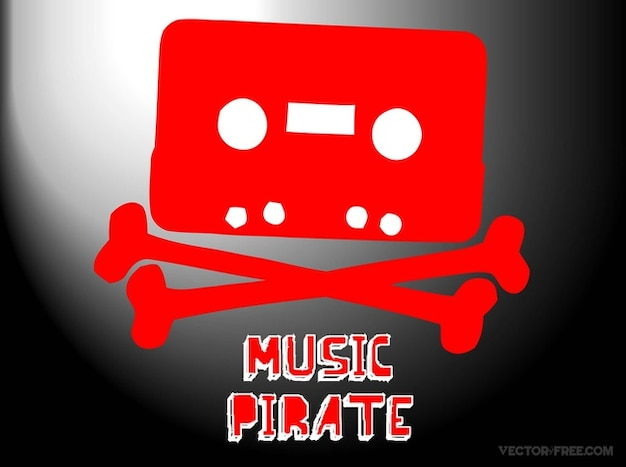 Downloading music piracy vector Vector | Free Download