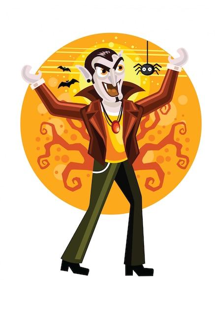Dracula vampir halloween illustration Premium Vector