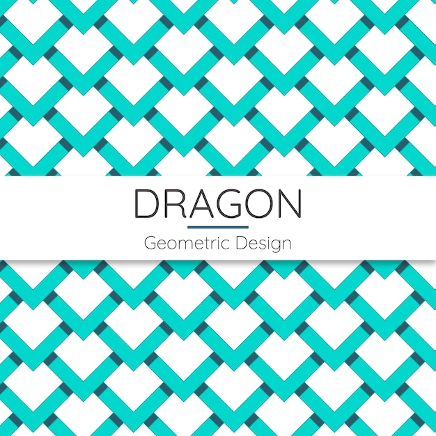 Dragon abstract geometric seamless pattern Premium Vector
