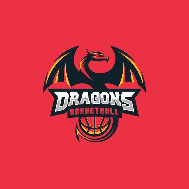 Dragon basketball design concept Premium Vector