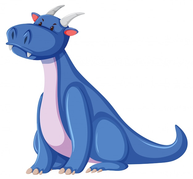 A dragon character on white background Free Vector