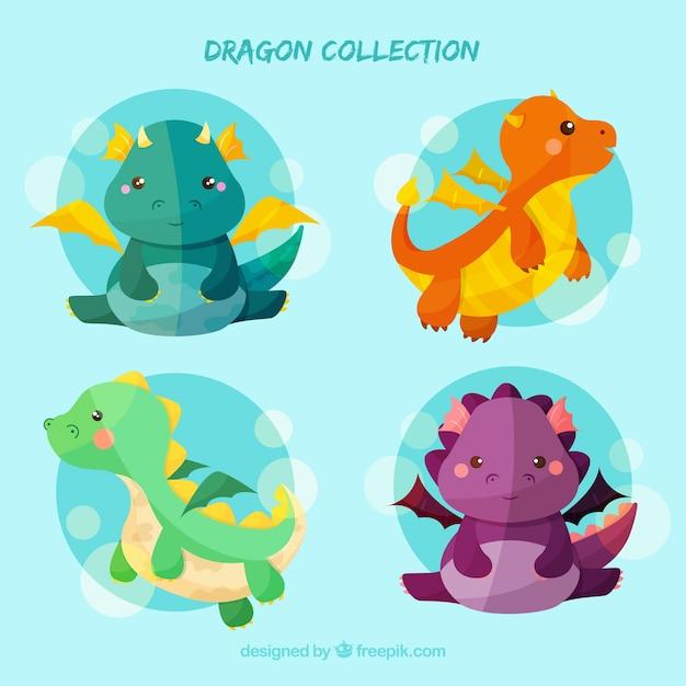 Dragon collectio Free Vector