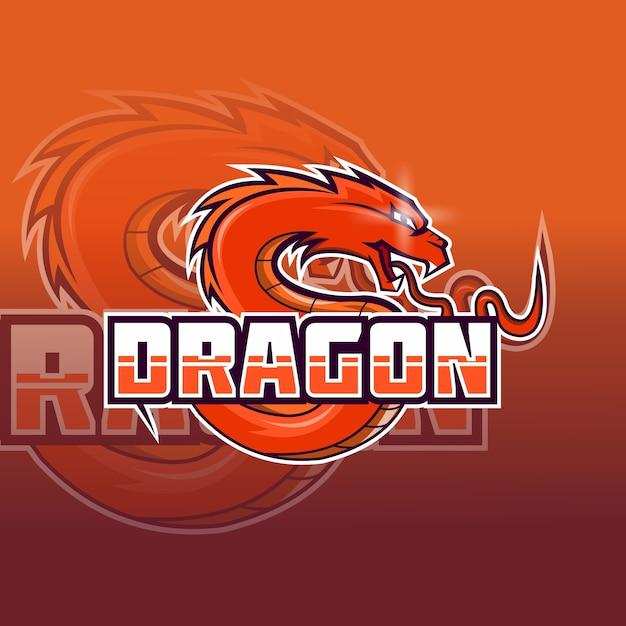 ドラゴンeスポーツロゴベクトル Premiumベクター